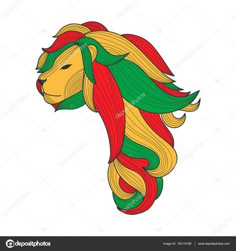 imagenes de leones rastafari le 243 n de rasta en la forma de 193 frica vector de stock
