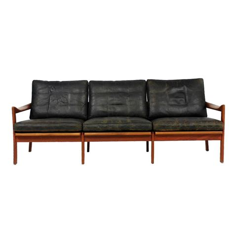 mid century modern leather sofa century leather sofa scandinavian modern brown leather