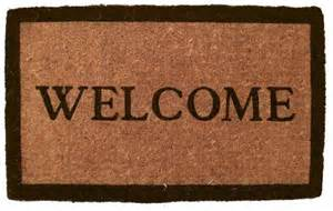 simply welcome coir door mats