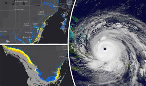 flood map usa hurricane irma surge warning flooding map shows