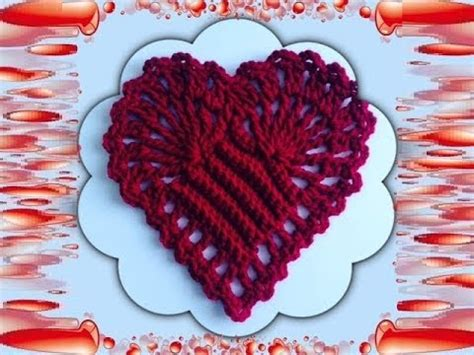 crochet heart pattern free youtube how to crochet a heart pattern 173 by thepatternfamily