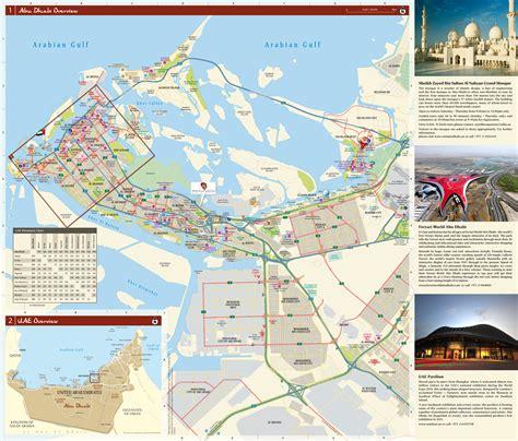 printable road map of abu dhabi large scale detailed tourist map of abu dhabi city