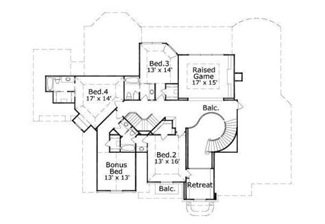 traditional style house plan 5 beds 4 5 baths 5000 sq ft