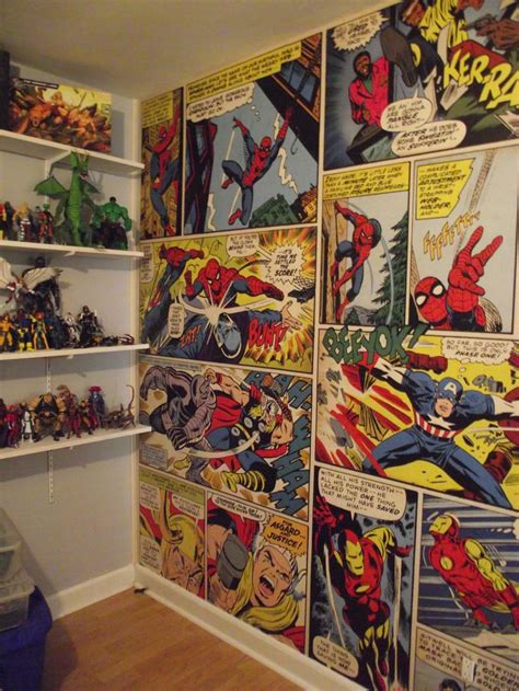 comic wall mural marvel comics wall mural pop room and murals