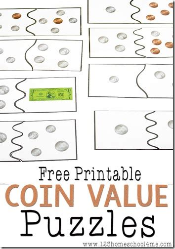 printable money games free coin value puzzles coins math and gaming