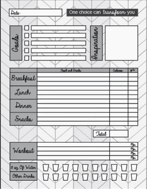 easy printable food journal crafts and chaos washday wednesday free printable food
