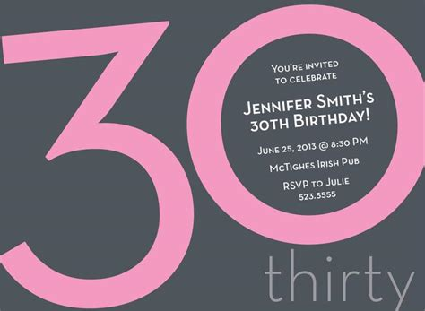 template for 30th birthday invitations 20 interesting 30th birthday invitations themes wording sles birthday invitations