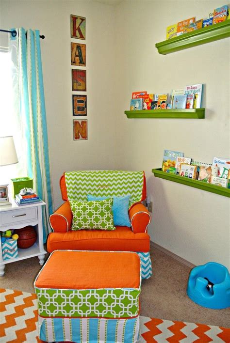 Lucky N Kentucky Nursery Inspiration Turquoise Orange Orange Nursery Decor