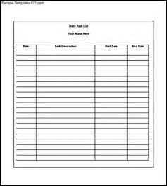 template for daily tasks free daily task list template sle templates