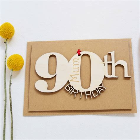 90th Birthday Cards Personalised 90th Birthday Card By Hickory Dickory Designs