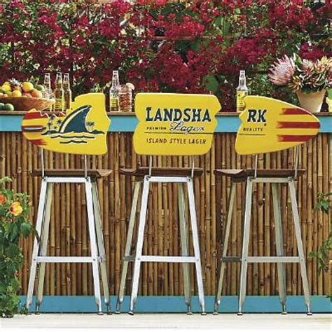 landshark surfboard bench margaritaville landshark surfboard barstools set of three frontgate