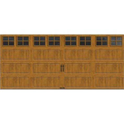 Clopay Gallery Collection 16 Ft X 7 Ft 18 4 R Value 18 Foot Garage Door