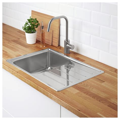Vattudalen Inset Sink 1 Bowl With Drainboard Stainless Inset Kitchen Sink
