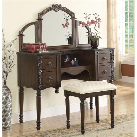 Fashioned Vanities by Furniture Astonishing Dresser With Tri Fold Mirror Vanity