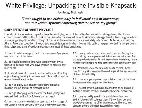 White Privilege Essay by White Privilege Unpacking The Invis