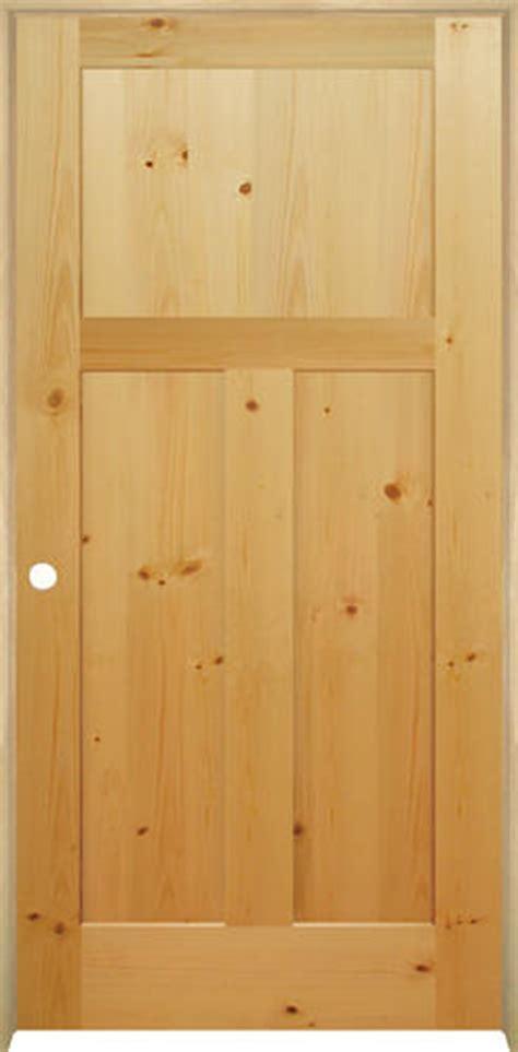 3 Panel Pine Interior Doors Mastercraft Knotty Pine Flat Mission 3 Panel Prehung Interior Door At Menards 174