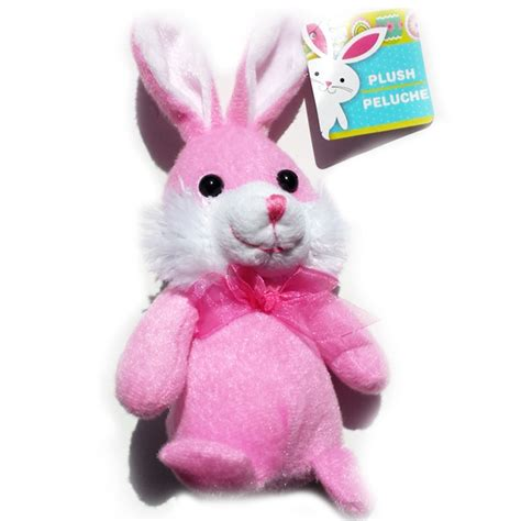 cute easter christmas plush bunny 6 5 pink balli gifts