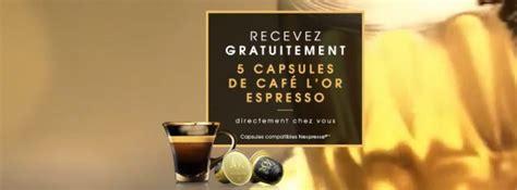 l or espresso machine l or espresso 233 chantillons gratuits nespresso