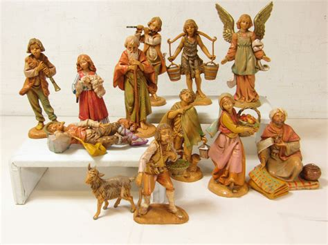 lot of 12 fontanini vintage nativity pieces mixed years