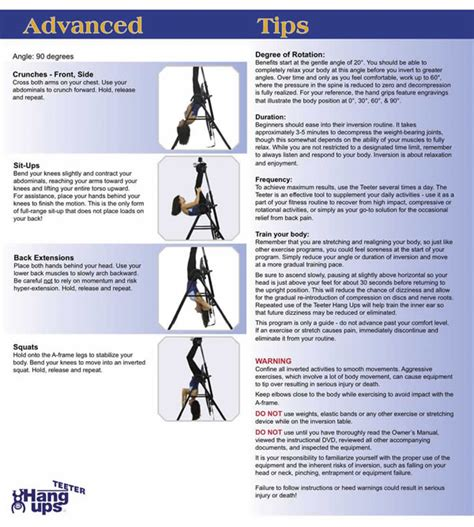 5 inversion table exercises