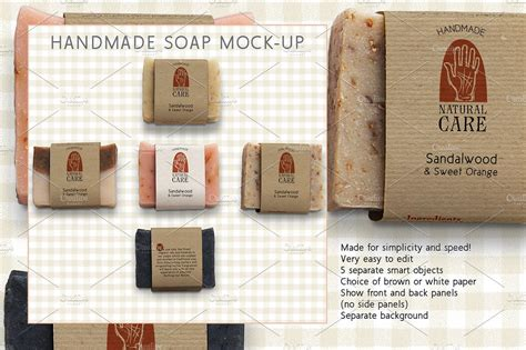 Handmade Marketing - handmade soap marketing kit product mockups creative
