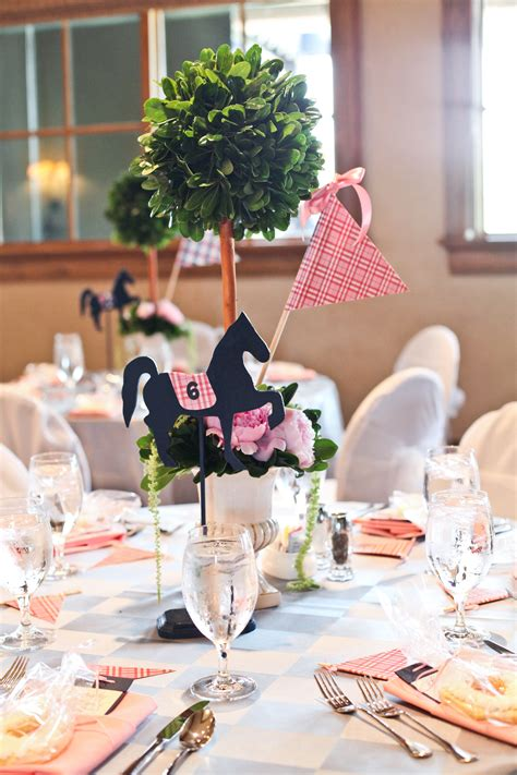 Kentucky Derby Bridal Shower Topiary Centerpieces Each Kentucky Derby Centerpieces