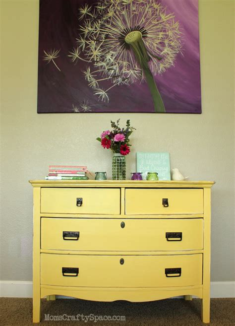 Vintage Painted Dresser by Yellow Painted Vintage Dresser Makeover Happiness Is