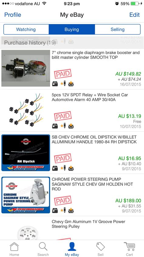 ebay history anyone else have a ebay purchase history like mine