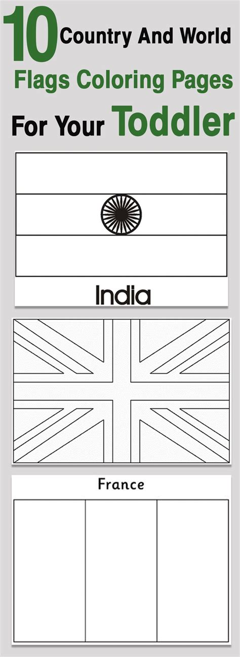 Country Flags To Color by Top 10 Free Printable Country And World Flags Coloring