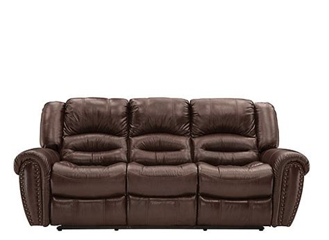 Cole Leather Reclining Sofa Dark Brown Raymour Flanigan