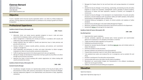 security officer resume objective security officer resume objective hotel security officer