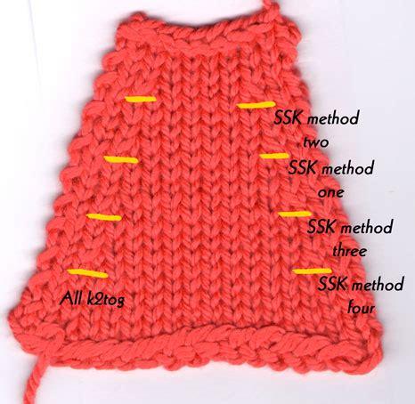 knitting decrease single decrease technique talk wolcott knits