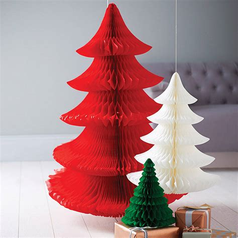 tissue paper christmas decorations tissue paper tree decoration by pearl and earl notonthehighstreet
