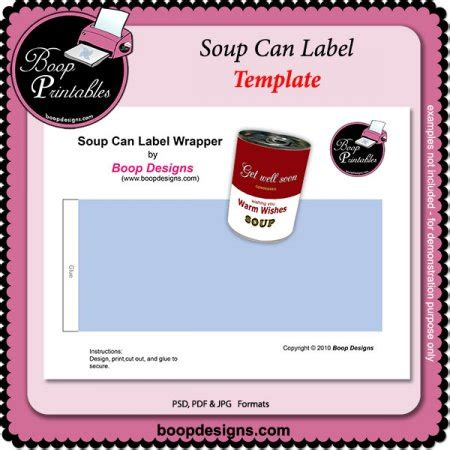 soup label template bing images