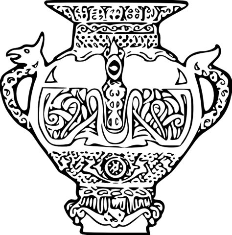 free coloring pages of ancient greek vase