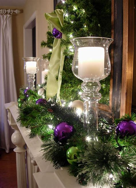 festive mantel decorating idea in own style