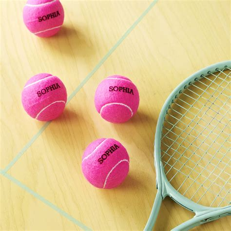 personalised tennis balls by price of bath