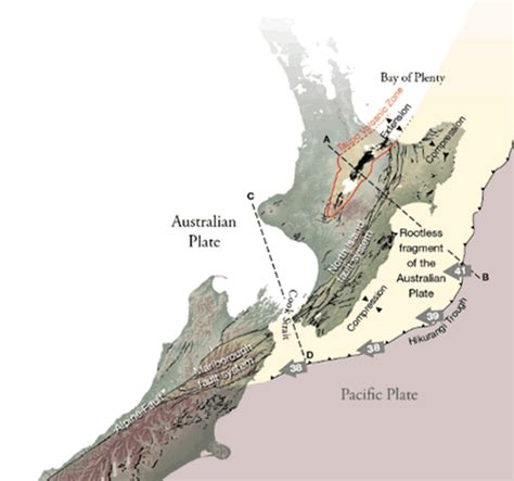 earthquake zones nz new zealand earthquakes locations depths and tsunami