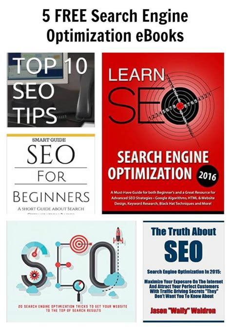Search Engine Optimization Articles 5 by 5 Free Search Engine Optimization Ebooks Thinking