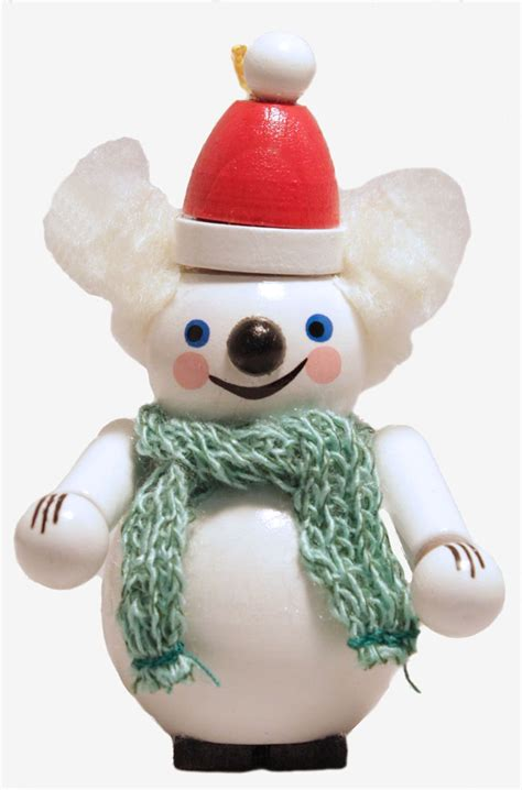 steinbach white ice polar bear w hat and scarf german