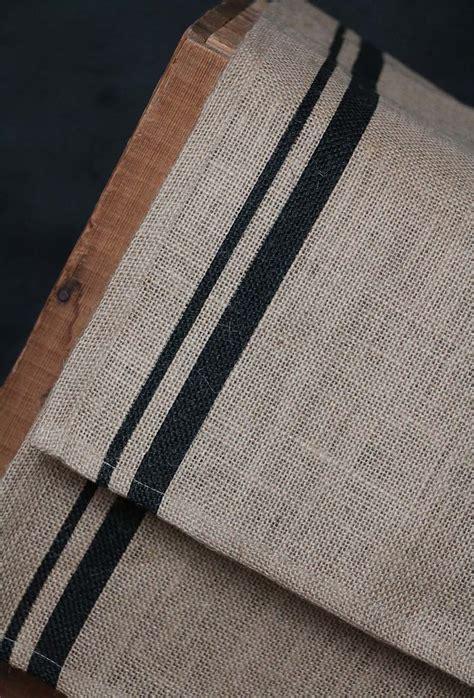 stripe table runner burlap black stripe tablerunner by raghu the patch