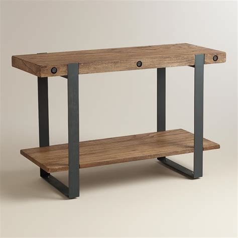 Rustic Console Table Rustic Skylar Console Table World Market