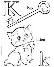 alphabet coloring book page letter k