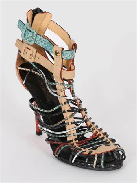 38 Louis Vuitton Shoes louis vuitton python strappy heel sandals 38 luxury bags