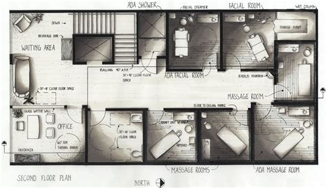 massage spa floor plans portfolio by nicole elsholz at coroflot com