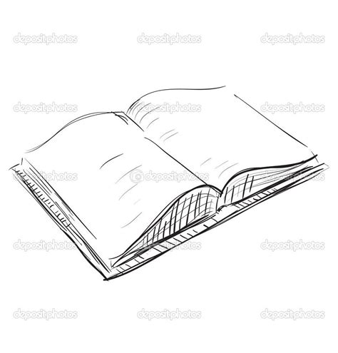 Sketches Book by Drawings Of Books Sketch Open Book Icon Stock Vector