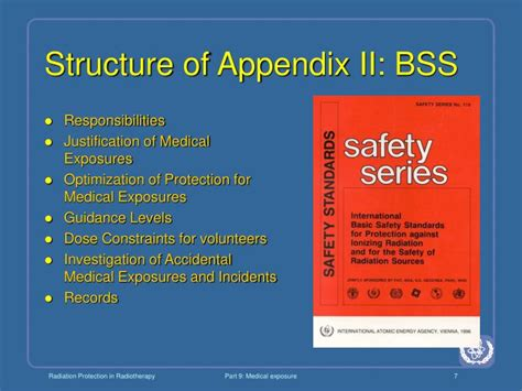 what is bss section ppt radiation protection in radiotherapy powerpoint