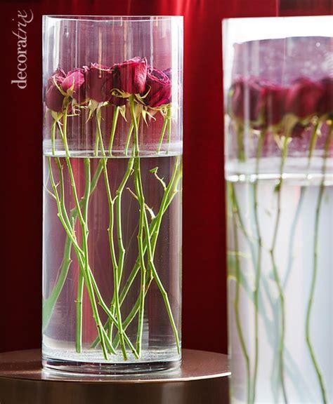 floreros y jarrones de vidrio jarrones de cristal con flores sumergidas