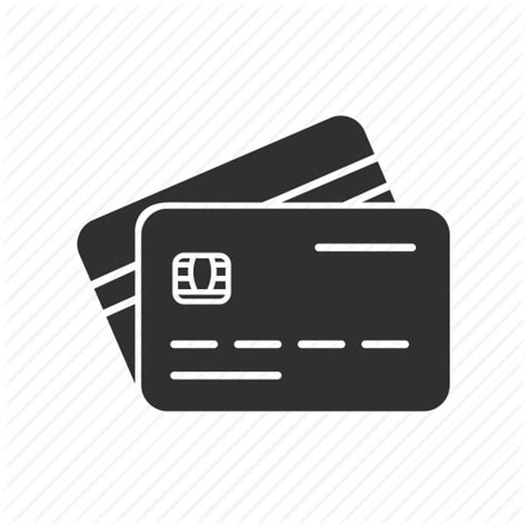 credit card template png card starters glyph by vectto