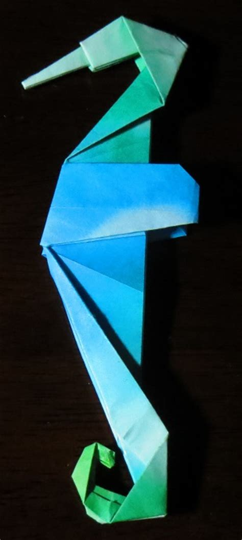 How To Make A Paper Seahorse - seahorse printable origami